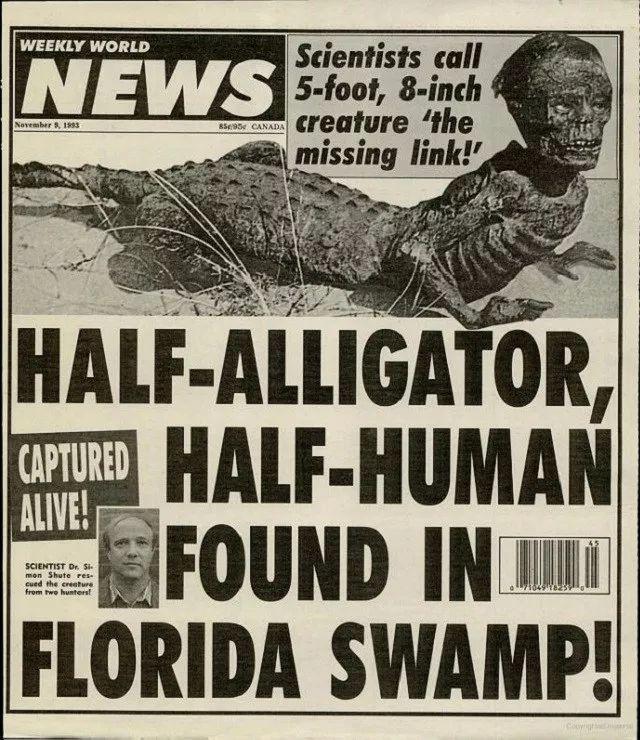 ワニ男が初めて発見されたのはかなり前